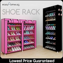 Shoe Rack 4 tier 5 tier 7 tier 10 tier / Double Tier Shoe Rack/ Storage Shelf Organizer Cabinet