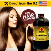 Tropic Isle Living Jamaican Black Castor Oil 4oz (Pack of 2) (Pack of 3) / 8oz  (Pack of 1) (Pack of 2) (Pack of 3) ★ Promotes Hair Growth and Healthy Hair ★ Hair Growth