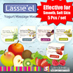 [Special Price for 5 Tubs] Lassieel Aloe Soothing / Kiwi Brightening / Raspberry Age Defying / Strawberry Hydrating / Soothing + Moisturising Cool Yogurt Massage Mask (Made In Korea) (12g x 5)