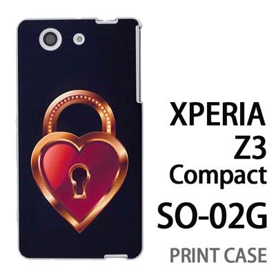 XPERIA Z3 Compact SO-02G 用『0113 恋の鍵穴 茶』特殊印刷ケース【 xperia z3 compact so-02g so02g SO02G xperiaz3 エクスペリア エクスペリアz3 コンパクト docomo ケース プリント カバー スマホケース スマホカバー】の画像