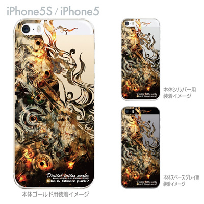 【iPhone5S】【iPhone5】【Clear Arts】【iPhone5ケース】【カバー】【スマホケース】【クリアケース】【Digital tattoo works】【アート】【タトゥー】 56-ip5s-sc0012の画像