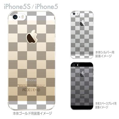【iPhone5S】【iPhone5】【iPhone5sケース】【iPhone5ケース】【カバー】【スマホケース】【クリアケース】【チェック・ボーダー・ドット】【ボックス】 06-ip5-ca0061aの画像