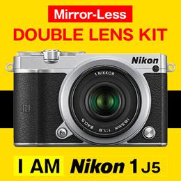 Nikon 1 J5 ダブルレンズキット [シルバー] ミラーレス一眼レフ ニコン