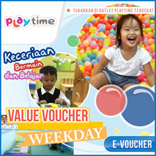 ☆Play Time☆ 60% off Tiket Masuk Play Time /Weekday/weekend/libur/Mobile voucher only