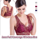 ▶Lace Full Coverage Wireless Bra◀GAA- Lace underwear with zero bound 、Sexy lace design show romantic elegance 、6 Colours and 4 Sizes Available