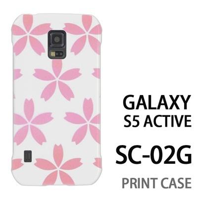 GALAXY S5 Active SC-02G 用『0713 白にピンク花びら』特殊印刷ケース【 galaxy s5 active SC-02G sc02g SC02G galaxys5 ギャラクシー ギャラクシーs5 アクティブ docomo ケース プリント カバー スマホケース スマホカバー】の画像