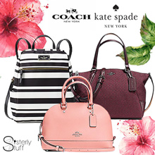 COACH AND KATE SPADE NEW COLLECTION - WALLETS AND BAGS