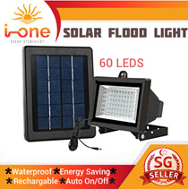 LIGHTS Solar Light 60 LED Outdoor Weatherproof Garden Flood Lights Bright Energy Saving LEDs