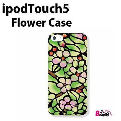 特殊印刷/iPodtouch5(第5世代)iPodtouch6(第6世代) 【アイポッドタッチ アイポッド ipod ハードケース カバー ケース】 (フラワー・ステンドグラス)CCC-075の画像