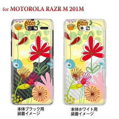 【MOTOROLA RAZR ケース】【201M】【Soft Bank】【カバー】【スマホケース】【クリアケース】【フラワー】【Vuodenaika】 21-201m-ne0038caの画像
