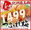 ◆話題の焼き梅干しにいかがですか?人気のはちみつ梅潤沢に入荷!!【送料無料】紀州南高梅★つぶれ梅 どっさり1kg 選べる4つの味!(はちみつ、しそ漬け、かつお、うす塩)大粒の3L・4Lサイズを選別致しました!うめぼし 梅干し 梅