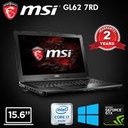 MSI GL62 7RD / 15.6 Inch / Intel i7 7700HQ/ 8GB DDR4 / 1TB HDD / Window10 / Nvida GTX 1050 GPU. 2 Years Warranty