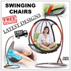 ★SWINGING CHAIRS ★Swinging Rack ★AMBER NEST ★COCOON ★Sturdy Frame ★Stylish Design ★Balcony ★Living Room ★Fast Delivery