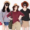 korean fashion♥♥♥50% Crazy Sale♥♥♥【The Da Da】 Hot sale!1 Girls' T-shirts/ Casual loose blouse/ long-sleeved stripe pattern shirts/ Girls' dress/Big size/descendants of the sun