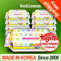 ◆Special Price◆Noblemom wet wipes Embo 80sheet refill 10+1pack wet tissue/KIDS/wet tissue/super sale/Baby wipes/made in Korea/kitchen/cleansinng tissue/camping/Frying Pan/In SG
