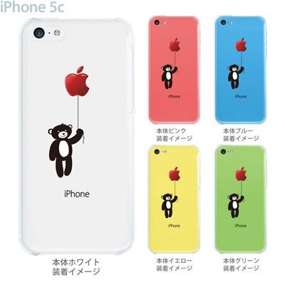 【iPhone5cケース】【iPhone5cカバー】【スマホケース】【クリア】【iPhone ケース】【クリアケース】【イラスト】【クリアーアーツ】【クマと風船】 08-ip5cp-ca0028の画像