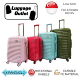 ★Restock just arrived★Free Luggage Cover★ Hard Shell 4 Wheel Spinner Polycarbonate Expandable Luggage Trolley Case 20/24/28 inch Pink/Red/Mint/Khaki