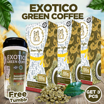 ★ GET 3 GREEN COFFEE PCS ★ FREE TUMBLER ★ Cofee for Diet ★ Proven halal safe and quality ★