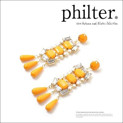フィルター philter ビジューティアドロップピアス イヤリング 取寄商品の画像