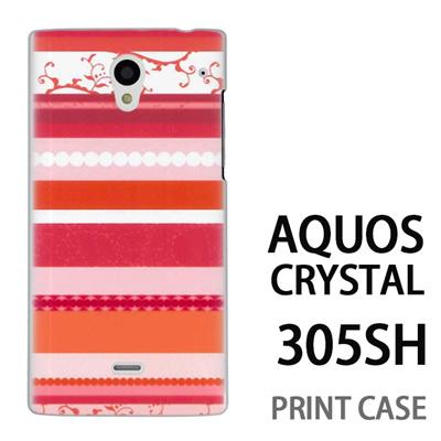 AQUOS CRYSTAL 305SH 用『0707 アジアストライブ ピンク』特殊印刷ケース【 aquos crystal 305sh アクオス クリスタル アクオスクリスタル softbank ケース プリント カバー スマホケース スマホカバー 】の画像