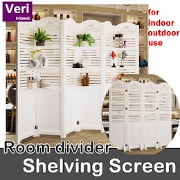 【Shelving screen/Room divider】Highly versatile/Hides clutter/adds decor