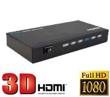 ★【送料無料】3D映像にも対応した入力1系統/出力4系統のコンパクトサイズHDMI分配器!HDMIからの映像/音声をテレビ/モニターなど4台の機器に同時表示可能!1x4 HDMI Splitter: LKV314(THDSP14)の画像