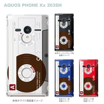 【AQUOS PHONEケース】【203SH】【Soft Bank】【カバー】【スマホケース】【クリアケース】【クリアーアーツ】【カセットテープ】 08-203sh-ca0095の画像