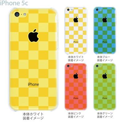 【iPhone5c】【iPhone5cケース】【iPhone5cカバー】【ケース】【カバー】【スマホケース】【クリアケース】【チェック・ボーダー・ドット】【ボックス・イエロー】 06-ip5c-ca0144の画像