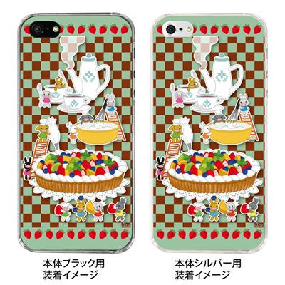 【iPhone5S】【iPhone5】【NAGI】【iPhone5ケース】【カバー】【スマホケース】【クリアケース】【アニマル】【ティーパーティ】 24-ip5-ng0017の画像