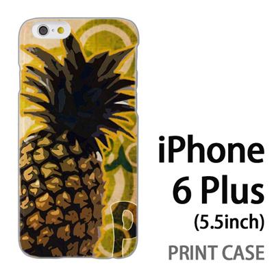iPhone6 Plus (5.5インチ) 用『No1 P パイナップル』特殊印刷ケース【 iphone6 plus iphone アイフォン アイフォン6 プラス au docomo softbank Apple ケース プリント カバー スマホケース スマホカバー 】の画像