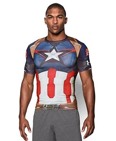 Qoo10 under armour men s alter ego captain america for Hulk under armour compression shirt