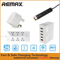 Remax 3-Port 3.0A Fast USB Wall Charger | Fast Multi USB Power Extension Charger (18 Months Warranty