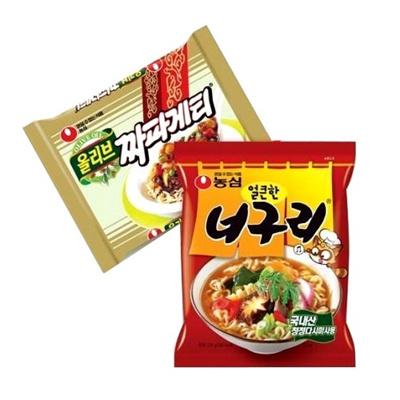 『チャパグリ(チャパゲティ5個×ノグリラーメン5個セット)』韓国商品韓国料理の画像