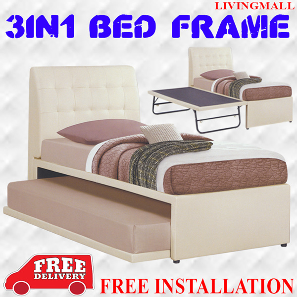 [LIVINGMALL-19006] *3-IN-1 BED FRAME* LIMITED OFFER AND LOWEST PRICE!!! Deals for only S$699 instead of S$0