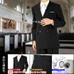 【高コスパのブラックフォーマル!標準~大きいサイズまで完備】4×1ボタンダブルフォーマル  アジャスター機能 ブラックフォーマル 礼服 喪服 メンズスーツ