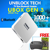 [FREE SHIPPING]-NEW UNBLOCK Tech TV BOX UBOX Bluetooth Version: 1000+ Free Channels - 1 YEAR Quality Guaranteed (Singapore Local ) LIMITED TIME OFFER (FREE AIR MOUSE/HEADSET)