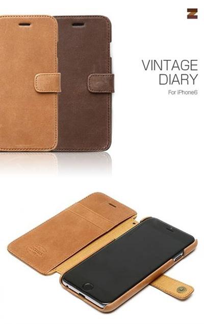 iPhone6カバーアイホン6 アイフォン6ケースiphoneケース アイフォン ブランド iphoneカバーiPhone6用 【iPhone6 4.7インチ 】 ZENUS Vintage Diary (ビンテージダイアリー)【メール便送料無料】の画像