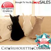 Cat Silhouette Cushion ( Bolster / Pillow / Backrest )