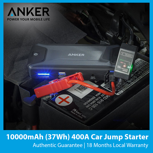 Anker 400A Car Jump Starter 10000mAh Powerbank Authentic 100% Genuine Local Stock Fast Delivery Deals for only S$139 instead of S$0