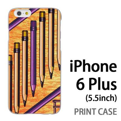 iPhone6 Plus (5.5インチ) 用『No1 P ペンシル』特殊印刷ケース【 iphone6 plus iphone アイフォン アイフォン6 プラス au docomo softbank Apple ケース プリント カバー スマホケース スマホカバー 】の画像