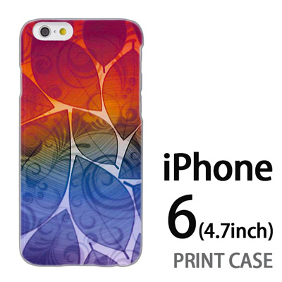 iPhone6 (4.7インチ) 用『0116 舞い散る葉 レインボー』特殊印刷ケース【 iphone6 iphone アイフォン アイフォン6 au docomo softbank Apple ケース プリント カバー スマホケース スマホカバー 】の画像
