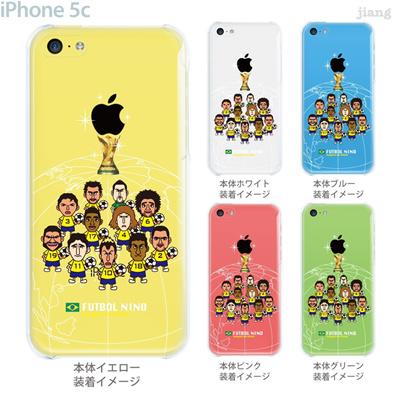 【ブラジル】【サッカー】【iPhone5c】【iPhone5cケース】【iPhone5cカバー】【ケース】【カバー】【スマホケース】【クリアケース】【FUTBOL NINO】 10-ip5c-fca-all04の画像