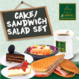 [dr.CAFE COFFEE] $5.80 for Cake/Sandwich/Salad + Drink Set! Redeem at 5 Outlets Daily All Day! Upgrade of Beverage available. Halal-Certified Coffee Chain.