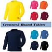 myglory77 Mens Womens Cotton Crewneck Round long Sleeve Casual Tshirts Top Tee shirt KS406