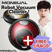 [FREE 5 Rags!/Wet Mopping!] MONEUAL PREMIUM Robot Smart vacuum cleaner / Mopping with Wet Rag / MR6803M / MR6800M / MR6700M / MR6703M / 5 RAGS FREE GIFT!!