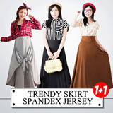 "( BUY 1 GET 1 ) BEST SELLER!!""Trendy Skirt ""Spandex Jersey""/ GOOD QUALITY"