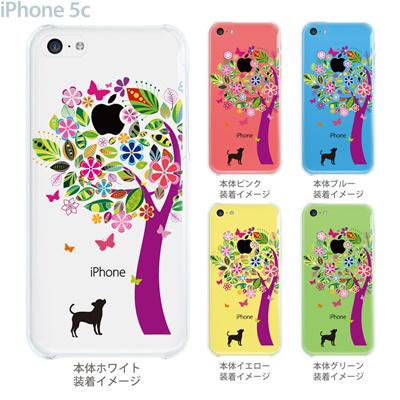【iPhone5c】【iPhone5cケース】【iPhone5cカバー】【クリア カバー】【スマホケース】【クリアケース】【イラスト】【クリアーアーツ】【花とイヌ】 22-ip5c-ca0073の画像