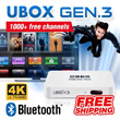 [FREE SHIPPING] NEW UNBLOCK Tech TV BOX UBOX Bluetooth Version: 1000+ Free Channels