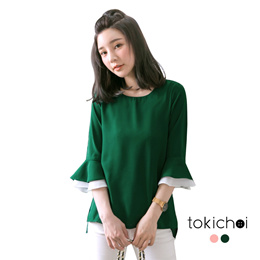 TOKICHOI - Layered Ruffle Sleeves Blouse-180351