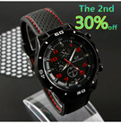 ★14th Sep★Popular Quartz Men Sports watch Casual Cycling F1 Wristwatch Dropship Rubber Silicone Watch